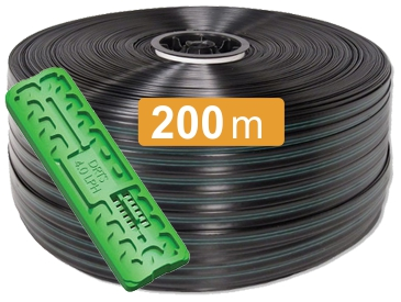 Капельная лента Viola 200 метров, 8 mill, шаг капельниц 20 см.