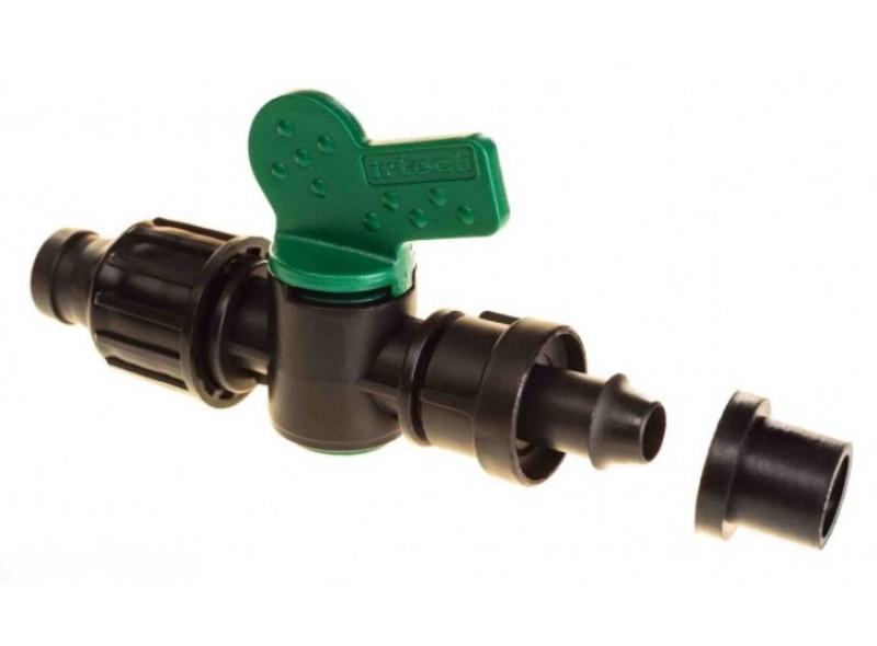 стартовый кран для капельной ленты с уплотнителем